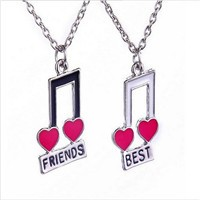 "Hot! 4 Pcs set ""best friends forever"" Rhinestone Broken Heart Shape Bff  Necklace Best friend Jewelry Friendship for Gift e29cac8e8d1b"