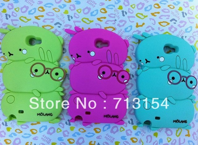 Silicone Cellphone Cover Cases cartoon 3D Fashion Lovely Animal Caterpillars case For Samsung Galaxy Note 2/ N7100 free shipping