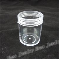 Wholesale Hot Portable Cylindrical Transparent Plastic Box Grids Jewelry Storage Box  Makeup  Jewelry Box