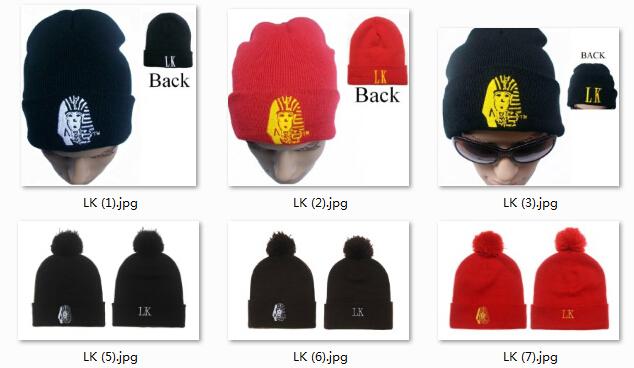 2014 hot sale unisex knit beanie hats pom last kings tyga knit caps winter pattern cuffed wholesale free shipping hip hop(China (Mainland))