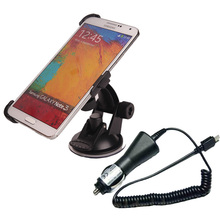 High quality Bracket Universal Car charger + 360 Degrees Car Holder Mount For Samsung Galaxy Note 3 N9000 New Dropshipping(China (Mainland))