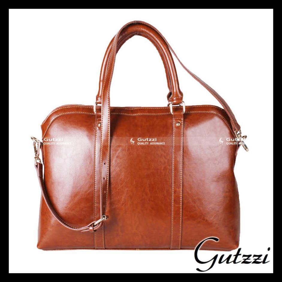 GUTZZI Genuine Split Leather Briefcase Messenger Laptop Shoulder Bag Handbag Work Attach Case Woman Man Unisex Office(China (Mainland))