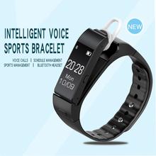 TEZER V6 original Voice smart Wristbands TalkBand smart bracelet with earphone bluetooth 4.0 Smartband Sleep Monitor smart band(China (Mainland))