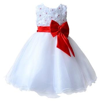 Детские платья для свадеб театрализованное белый первого святого кружева причастие платья маленького малыша младший ребенок невесты
