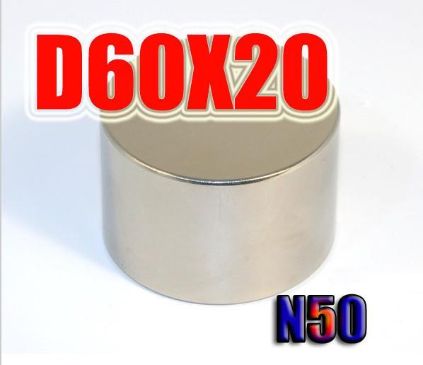 60*20 1pc 60mm x 20mm disc powerful magnet craft neodymium rare earth permanent strong n50 n52 60 x 20<br><br>Aliexpress