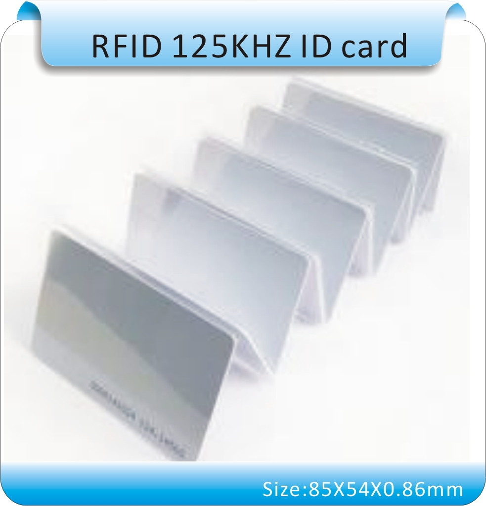 100pcs TK4100/EM4100 125Khz RFID Proximity Cards ID Card Door Entry Access 0.8mm, RFID access cards. Thin /white(China (Mainland))