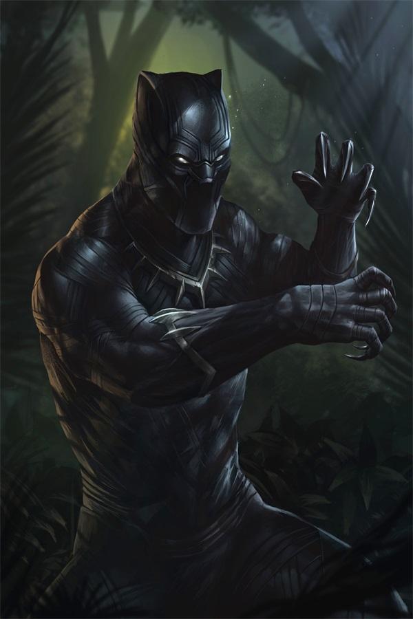 Marvel comics wallpaper promotion shop for promotional for Black panther mural