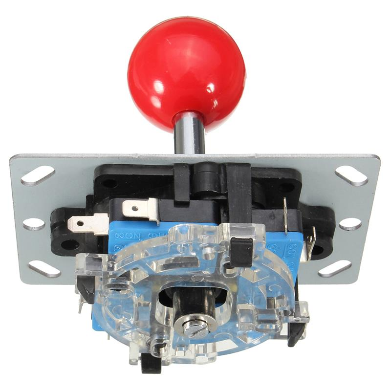 image for New Arrival  DIY Arcade Game Joystick Red Ball 4/8 Way Replacement Par