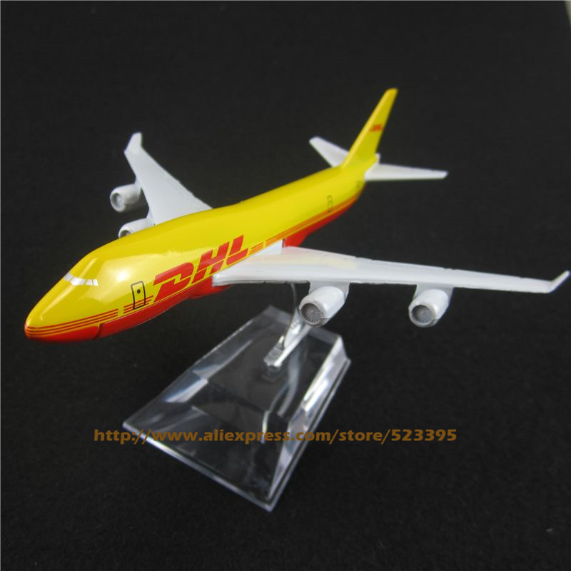 16cm Alloy Metal Air DHL Airlines Boeing 747 B747 400 Airways Airplane Model Plane Model W Stand Aircraft Toy Gift(China (Mainland))
