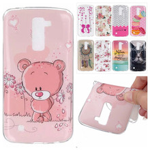 Luxury IMD TPU Silicone Rubber Soft Cartoon Cover For LG K10 5.3 inch Phone Protective Cases