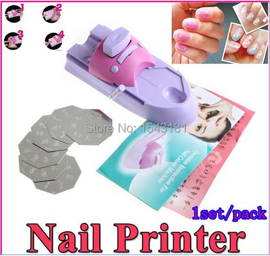 Nail Art Printing Machine DIY Color Printing Machine Polish Stamp 6 Pcs Pattern Template Kit Set Digital Printer stamping plate(China (Mainland))