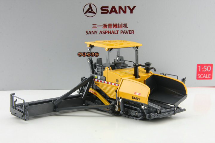 Ex SANY original authentic 1:50 three one Asphalt Paver Construction Machinery alloy model car(China (Mainland))