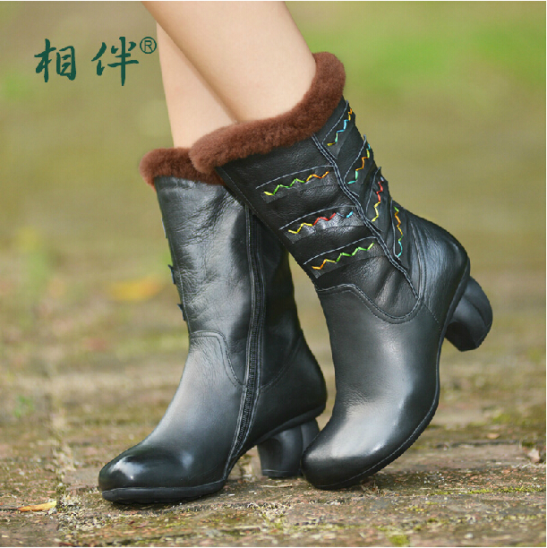Здесь можно купить  2014 new winter handmade genuine leather boots plush inside cotton boots high heels soft martin boots 2014 new winter handmade genuine leather boots plush inside cotton boots high heels soft martin boots Обувь