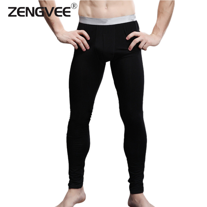 2016 New Arrival Men's Long Johns Modal and Spandex Thin Thermal Underwear Pants-Free Shipping(China (Mainland))
