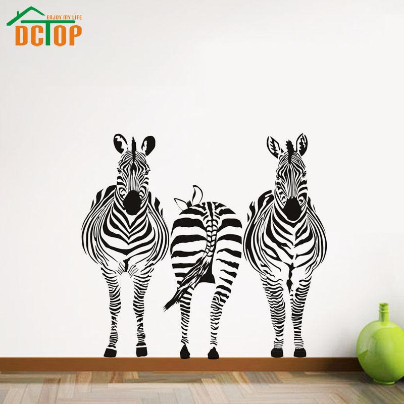 Рисунки зебр на стене