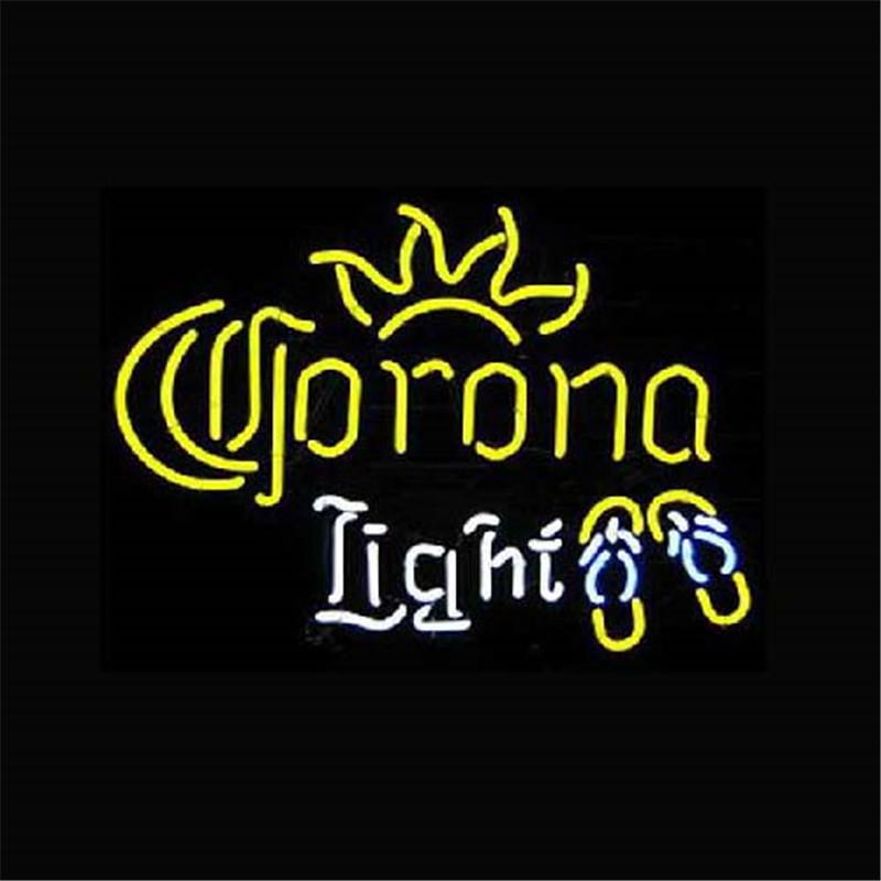 "17*14"" CORONA LIGHT outdoor NEON SIGN Signboard REAL GLASS BEER BAR PUB Billiards store display Restaurant Shop Signs Bulb(China (Mainland))"