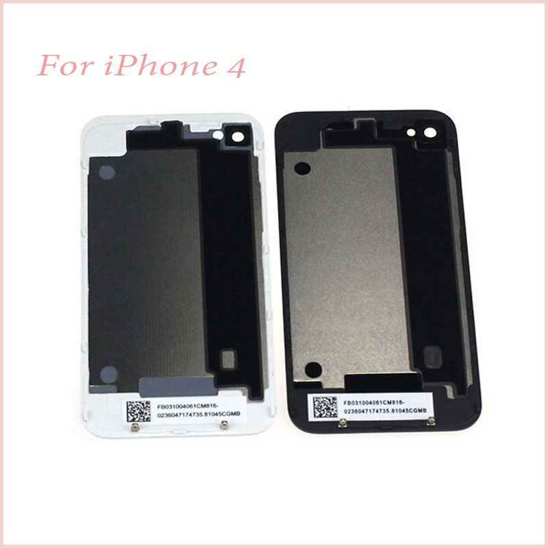 Mobile Phone Housing Back Glass iPhone 4 4G Cover Battery Door Replacement Repair Parts - 7-Color store