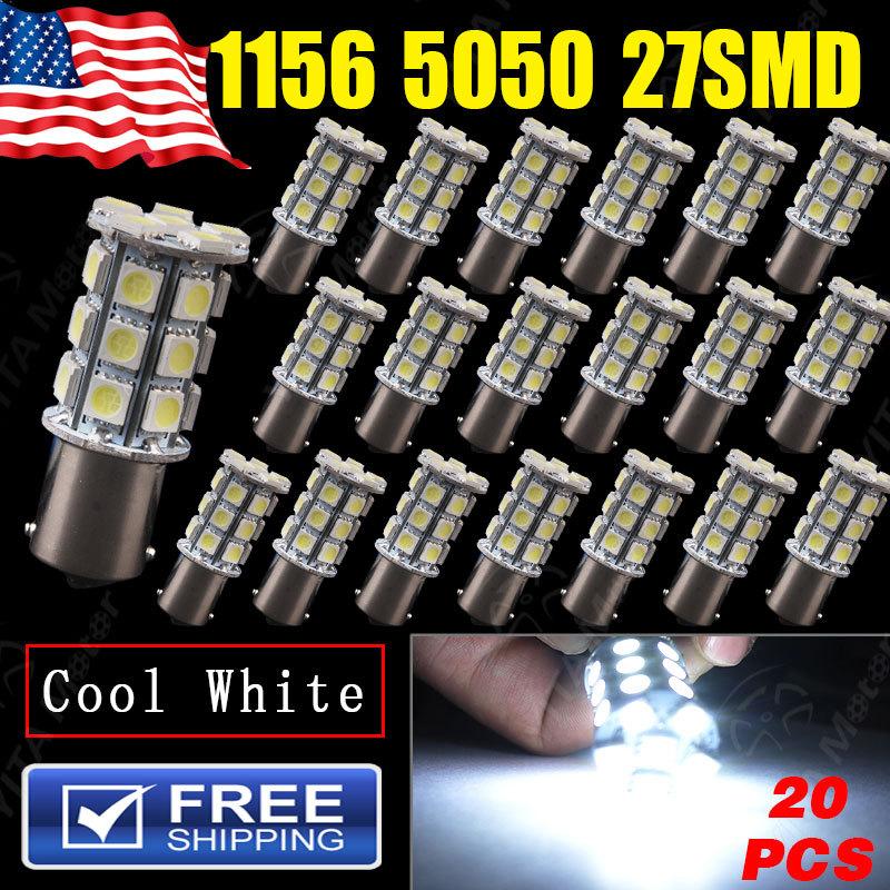 Big PromotionCool White 1156 BA15S 27SMD 5050 LED Bulb Car Auto Light Source Turn Tail Parking Lamp 12V External led Lights B50(China (Mainland))