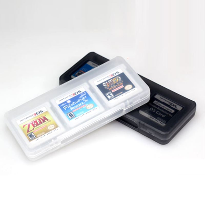 Black/white 6 in 1 matte box best Material Game Card Box for 3DS Card Case 3DSLL Card Case 2DS Game Card Shell(China (Mainland))