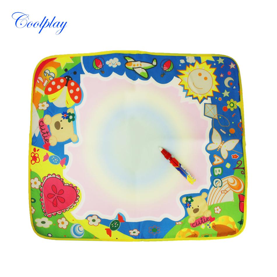 Coolplay CP1373 60X49cm Magic Multicolor Magic Doodle Mat with 1 Magic Pen/Water Drawing Rug/Water Painting Mat(China (Mainland))