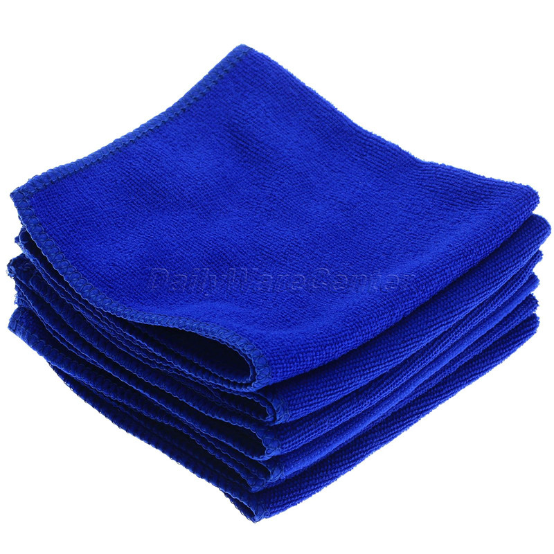 6Pcs Blue 30x30cm Auto Care Microfibre Cleaning Sponge Cloths Car Soft Cloth Magic Glasses Wash Towels Car-Styling Detailing