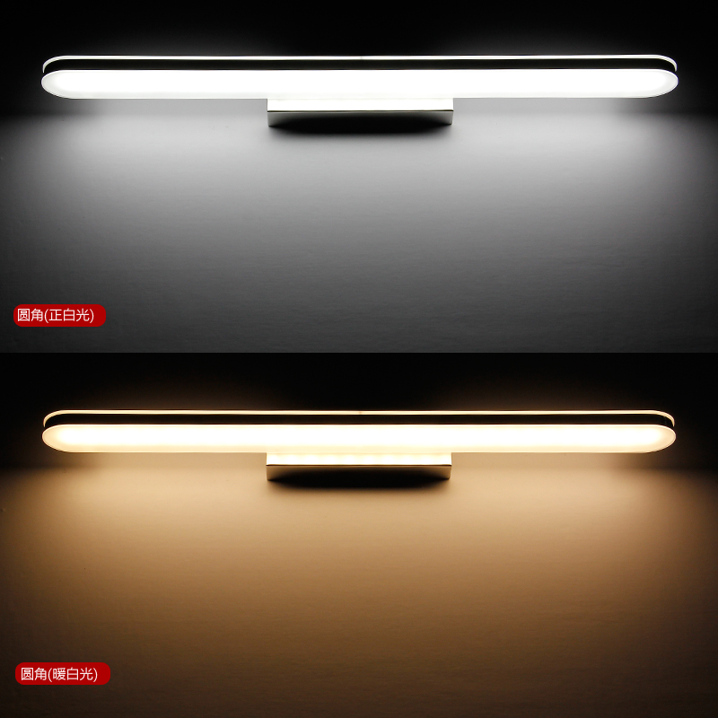 led bathroom mirror 8W Brief Stainless Steel indoor Wall Lights for home vanity Lamp luminaire bedroom lighting fixtures(China (Mainland))