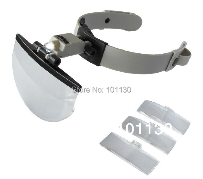 1 5x 2x 2 5x 3 5x helmet hands free magnifying glass loupe. Black Bedroom Furniture Sets. Home Design Ideas