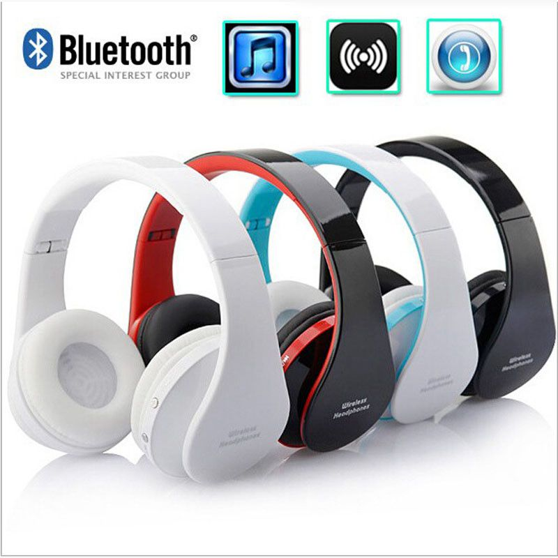 Bluetooth Headphones NX-8252 Stereo Headset Foldable Wireless Earphone With Mic Super Bass Noise Cancelling for iPhone Xiaomi(China (Mainland))