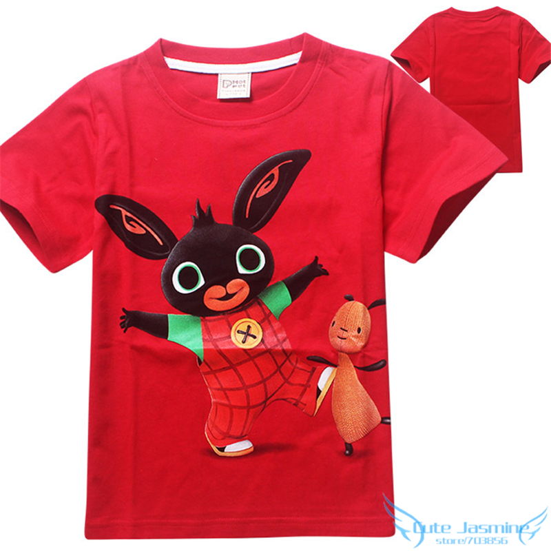 Bing Bunny Rabbit Kids Clothes 2016 Summer New Arrival Baby Boys Girls Cartoon T Shirts China Low Price Children Tees Clothing(China (Mainland))