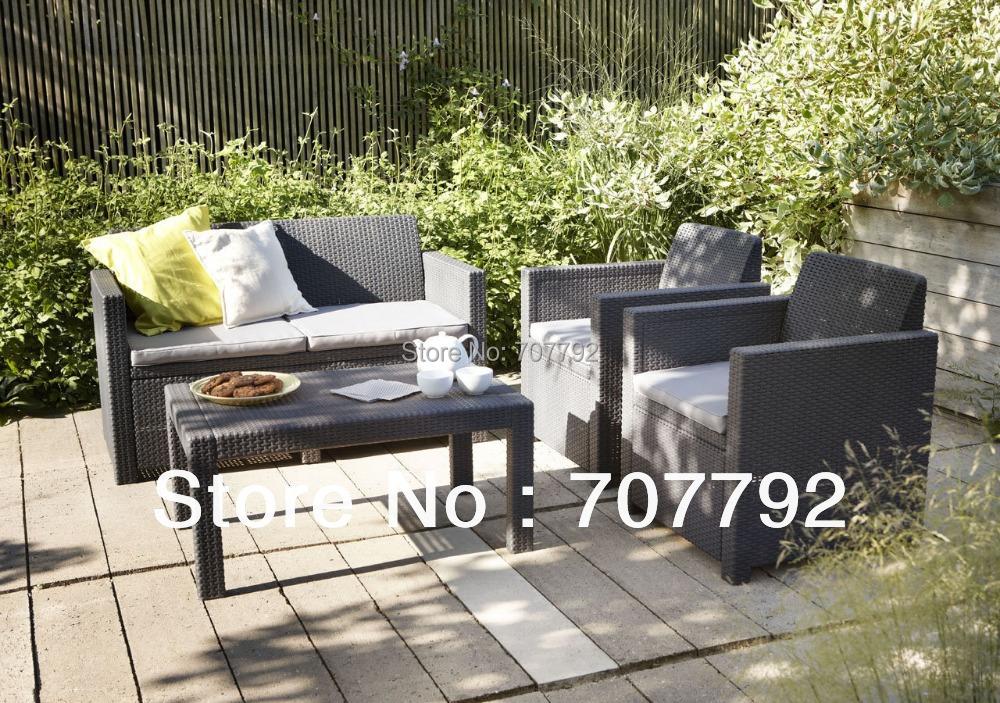 2016 Top Sale Merano Lounge Outdoor Poly Rattan Furniture Sofa(China (Mainland))