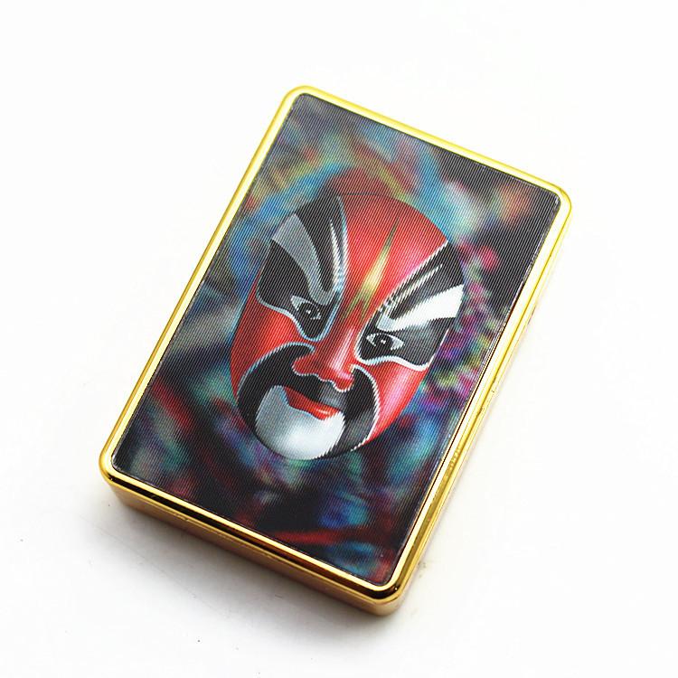 3d patch facebook electronic cigarette lighter USB facial makeup Opera Facial Masks Suddenly turn hostile metal women cool power(China (Mainland))