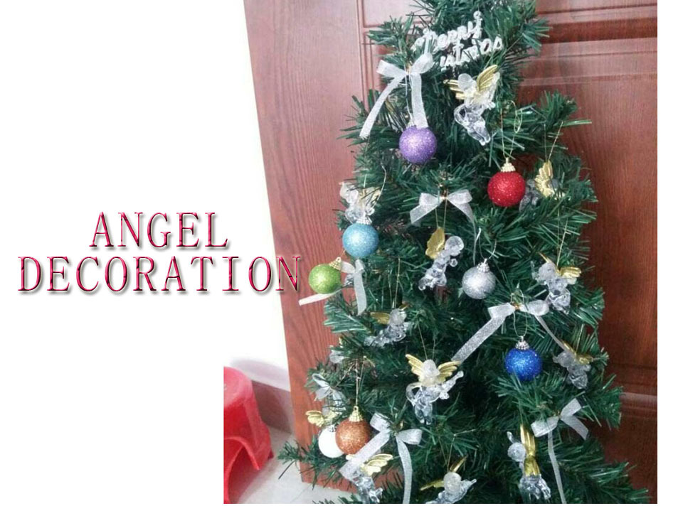 20pcs/pack Christmas tree decoration christmas indoor decoration 6cm Christmas angel New year natal party DIY ornament(China (Mainland))