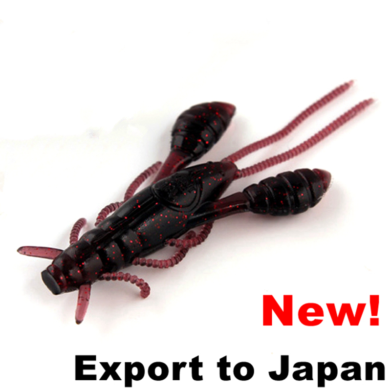 3Pcs/Lot Crayfish Soft Lure 63.5mm 5.3g Top Quality Sabiki Bait Export to Japan New Wobbler(China (Mainland))