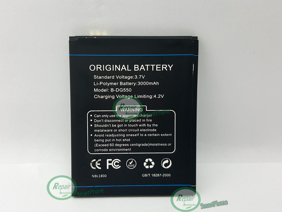 100 Original Doogee DG550 Battery Large 3000mAh B DG550 Replacement Accessory For DAGGER Mobile Phone Free