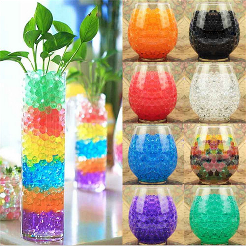 New 10 Bags Crystal Mud Soil Water Beads Bio Gel Ball For Flower/Weeding/Deraction(China (Mainland))