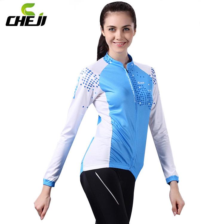 2014 Cheji  Arrivel Blue  Autumn Cycling   Long Jersey Long Pants sets Wholesale High Quality Bike Clothing