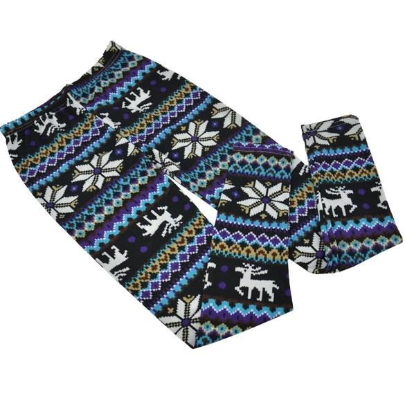 New Winter Warm Women Leggings Animal Print Pattern Leggins Pant Casual Fashion Knitted Snowflake Reindeer Leggins For Women(China (Mainland))