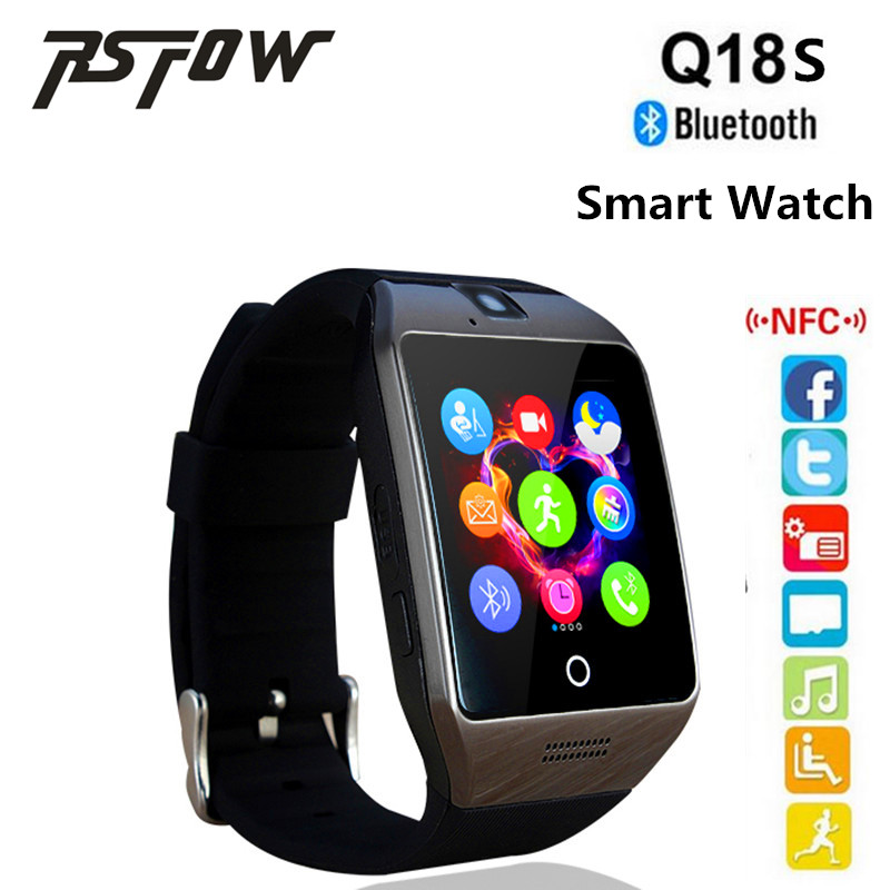 2017 MTK626D Smart Watch Q18S With Camera Bluetooth WristWatch TF SIM Card Slot NFC Support Android&ios Phone Multi languages(China (Mainland))