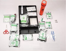 free shipping luxury earthquake disaster kit first aid box earthquake case 130pcs in 1(China (Mainland))