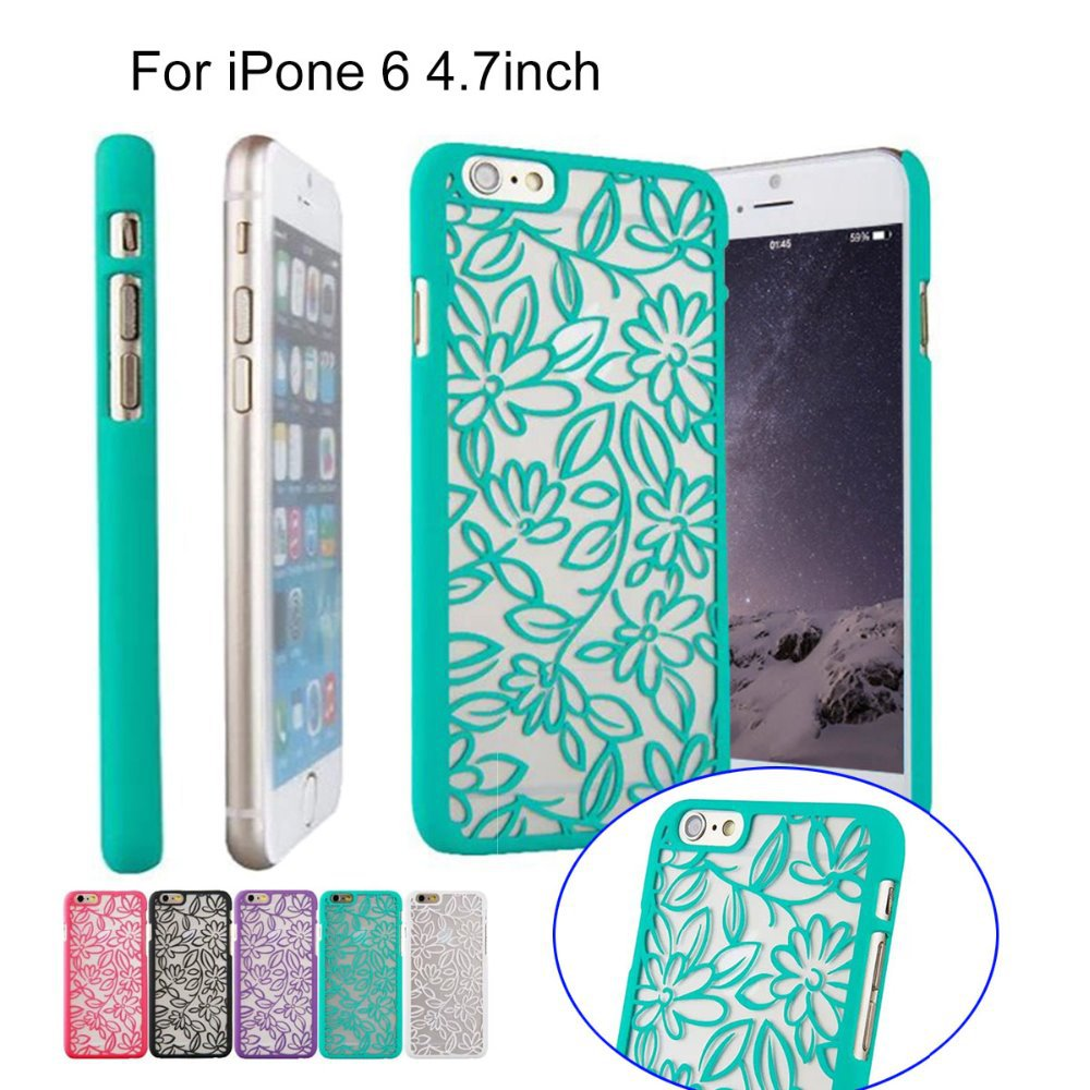 3D Brand Luxury Decorative Pattern Phone Case For Apple iPhone 6 4.7 inch Transparent Hard Shell Back Cover Case for iPhone 6(China (Mainland))