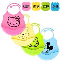 2015 new design Baby bibs waterproof silicone feeding baby saliva towel wholesale newborn cartoon waterproof aprons