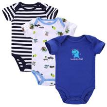 3pcs/lot babyspielanzug kurzarm baumwolle ähnliche jungen mädchen kleidung babykleidung overalls kleidung gesetzt bodies(China (Mainland))