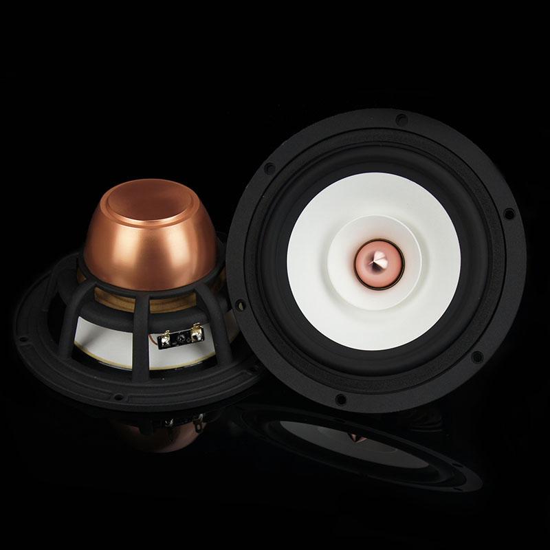 Aucharm High End 6.5'' Neodymium Magnet Full Range DIY Speaker Driver Paper Cone 8ohm 25W Fs=50Hz(China (Mainland))
