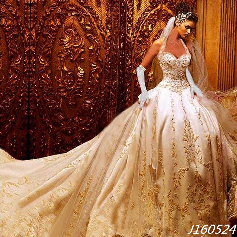 Wedding Gowns With Gold: Gold wedding dresses aelida. Atelier aim ...
