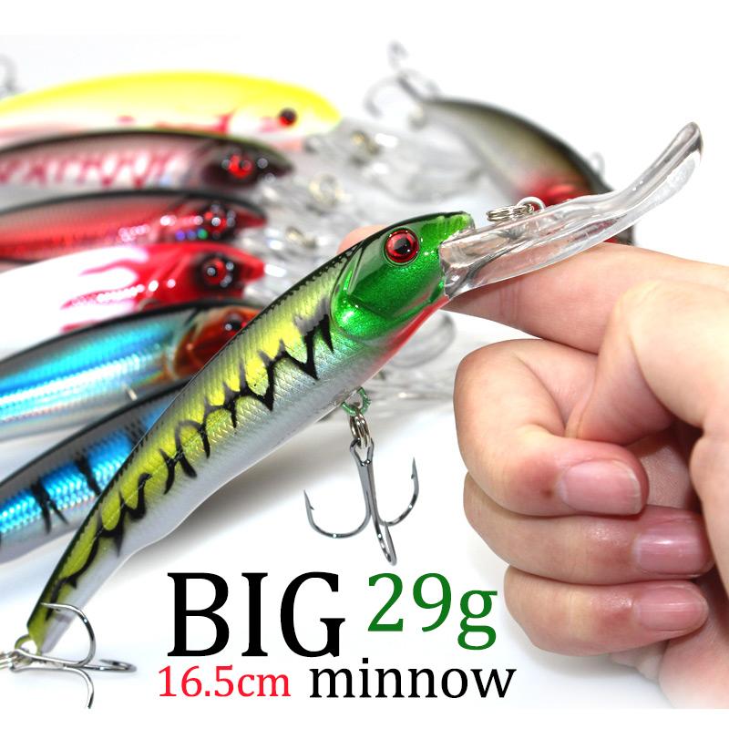3D Eyes Plastic Crank Bait Swimbait 30g 16.5cm Minnow Fishing Lures Japan Deepswim Saltwater Hard Bait Sinking Wobbler(China (Mainland))