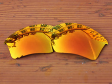 Polycarbonate-Fire Red Mirror Replacement Lenses For Half Jacket 2.0 XL Sunglasses Frame 100% UVA & UVB Protection
