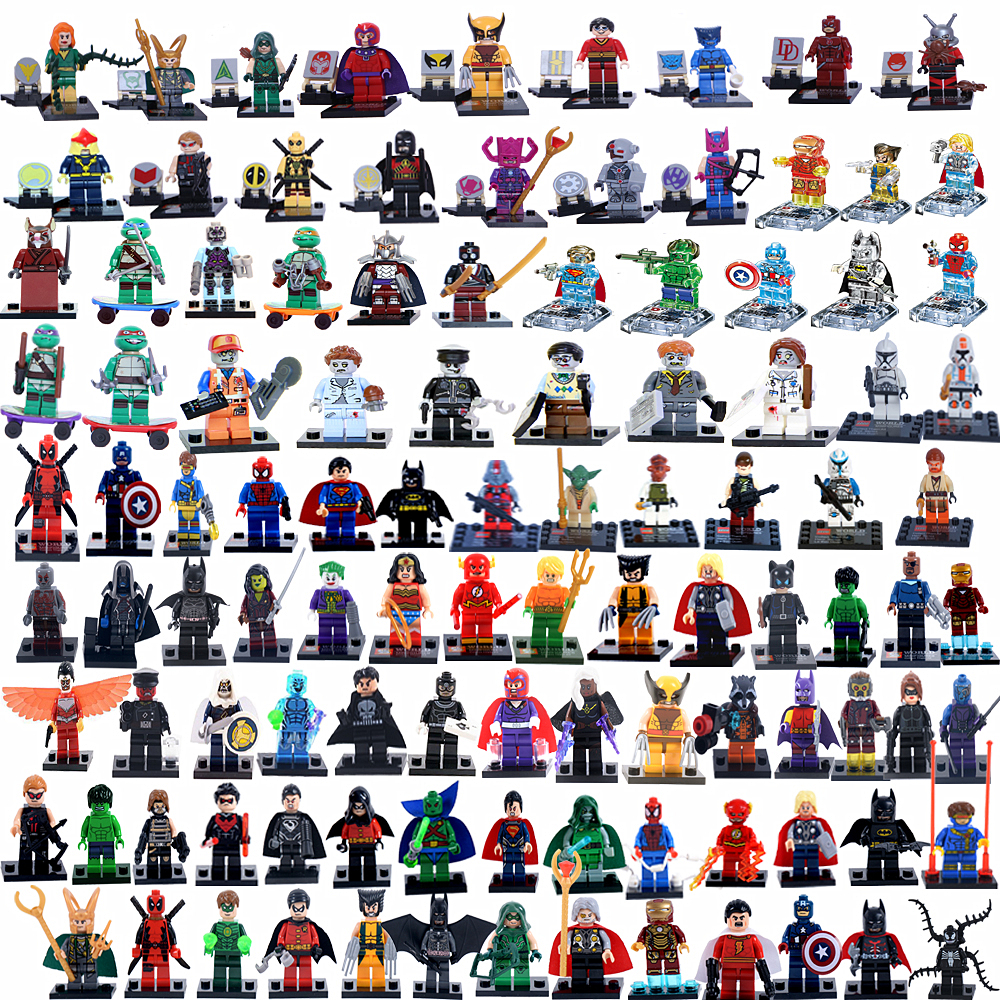 2015 NEW Crystal Marvel Super Hero Avengers Star Wars Figures Building Blocks Minifigures Bricks Model Toys Lego Compatible(China (Mainland))