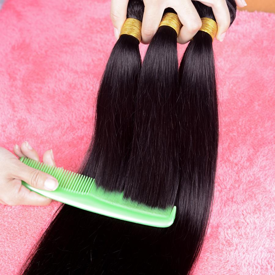 Rosa Hair Products Brazilian Virgin Hair Straight 3Bundles Lot Brazilian Hair Weave Bundles Cheap Brazilian Hair Soft and Silky(China (Mainland))