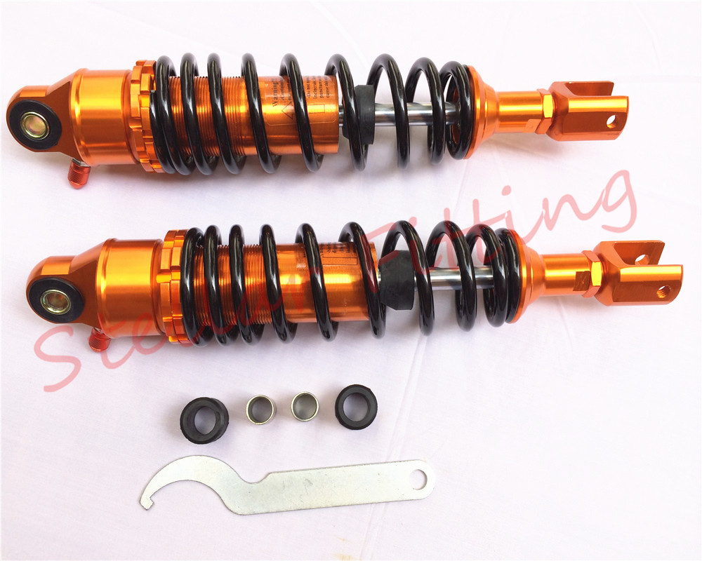 Suitable for:motorcycle Honda suzuki yamaha 320mm 50cc 100cc 125cc scooter A variety of models after shock absorber Gold + black(China (Mainland))