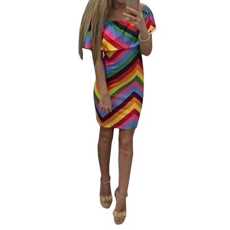 2015 sexy striped summer style dress women rainbow dresses ... - photo #26